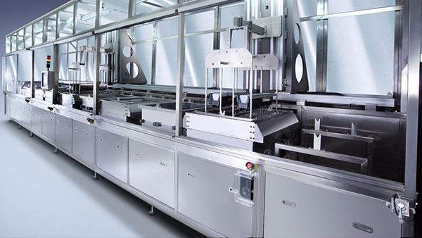 Mechanical precision parts cleaning system